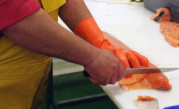 Mise en filet de poisson